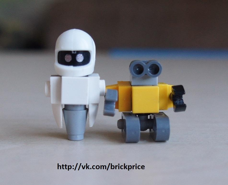 Роботы Ева и Валли вид спереди